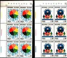 74868) ITALIA-BLOCCO DI 6 V..-Missionari Salesiani - 29 Marzo 1977 -MNH**SERIE COMPLETA - 6. 1946-.. Repubblica