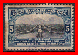 PANAMA SELLO AÑO. 1909-15 GATUN LOCKS - Panamá