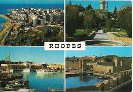 GREECE 1977 PC Of Rhodes - Rodos, Posted PC USED - Grèce