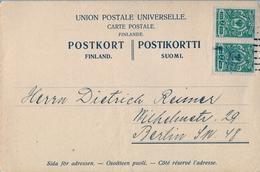 1911 , FINLANDIA , TARJETA POSTAL CIRCULADA, HELSINKI - BERLIN , - Briefe U. Dokumente