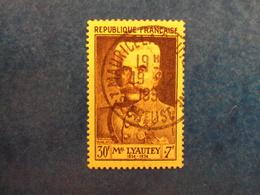 """1953  -timbre Oblitéré N°   950   """" Lyautey         """"       Cote   14      Net   4.65 - France"""