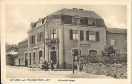 Folschviller Folschweiler 1921 Café Restaurant MAGER Près De Faulquemont Saint Avold - Otros Municipios