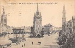 COURTRAI - La Grand'Place, St-Martin, Les Halles Et La Poste - Kortrijk