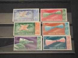 MALDIVES - 1966 SPAZIO/LUNA  6 VALORI - NUOVI(++) - Maldive (1965-...)