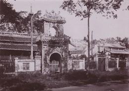 Photo Originale Albuminée Circa 1900  Indochine Viet Nam,   Pagode à Thudaumont - Luoghi