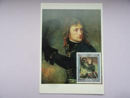 CARTE MAXIMUM CARD NAPOLEON BONAPARTE AU PONT D'ARCOLE PAR GROS SHARJAH - Arte
