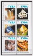 0507 Tuva 1999 Mineralen Mineralsbaryt Gips S/S MNH - Mineralen