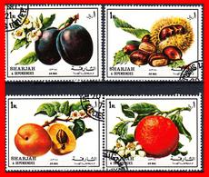 EMIRATOS ARABES  ( SHARJAH )  TEMATICA Frutas - Sharjah