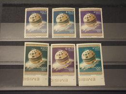 PARAGUAY - P.A. 1964 Olimpiadi Tokyo/telestar 3 VALORI + 3 VALORI ND COLORI CAMBIATI  - NUOVI(++) - Paraguay