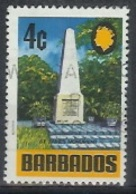 1970 4 Cents St. James Monument, Used - Barbados (1966-...)