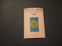 PARAGUAY - BF 1966 PRE-OLIMPICA MEXICO/MEDAGLIA  - NUOVI(++) - Paraguay
