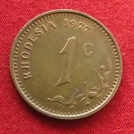 Rhodesia 1 Cent 1977 KM# 10  Rodesia Rhodesie - Rhodesia