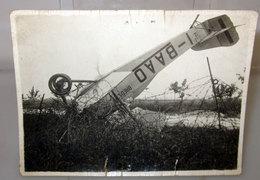 INCIDENTE AEREO BREDA A.1  FOTO B/N VINTAGE - Aviazione