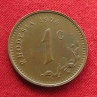 Rhodesia 1 Cent 1974 KM# 10  Rodesia Rhodesie - Rhodesia
