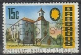 1970 15 Cents Sharon Moravian Church, Used - Barbados (1966-...)