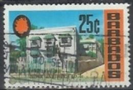 1970 25 Cents George Washington House, Used - Barbados (1966-...)