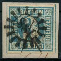 BAYERN QUADRATE Nr 2Ia GMR 188 Zentrisch Gestempelt Briefstück Ge X87E2FA - Bayern