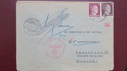 1944 Lettre Du Camp De Concentration De Mittelsteine Femme Travaillant A L'usine Albert Patin (composants V-1 & V-2 ) - Marcophilie (Lettres)