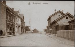 WAARSCHOOT : Statieplaats Met Café De La Station - Waarschoot