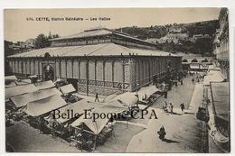 34 - Sète / CETTE - Les Halles +++++ G. Denuc, Montpellier ++++ Parfait état - Sete (Cette)
