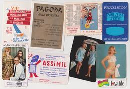 19 CALENDARIOS DE BOLSILLO / CALENDRIERS DE POCHE / POCKET CALENDARS / CALENDARI TASCABILI - 1970.. - Otras Colecciones