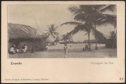 Postal Angola - Luanda - Loanda - Payzagem Da Ilha - Paisagem Da Ilha, Rede Pesca (Osorio, Delgado & Bandeira) CPA Animé - Angola