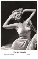 CAROLE LANDIS - Film Star Pin Up PHOTO POSTCARD- Publisher Swiftsure 2000 (22/139) - Postales