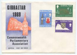 Gibraltar 1969 FDC Scott 219-221 Commonwealth Parliamentary Association - Gibraltar