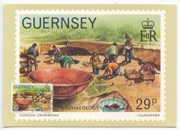Guernsey 1982 FDC Maxicard Scott 245 Archaeology - Guernsey
