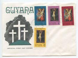 Guyana 1970 FDC Scott 110-113 Easter - Art Paintings Of Christ By Rubens - Guyana (1966-...)