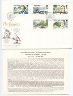 Isle Of Man 1989 FDC Scott 389-393 Mutiny On The Bounty - Isle Of Man