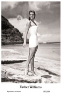 ESTHER WILLIAMS - Film Star Pin Up PHOTO POSTCARD- Publisher Swiftsure 2000 (183/136) - Postales