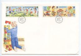 Isle Of Man 1989 FDC Scott 395-398 Children's Games - Isle Of Man