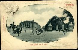 BRUXELLES : Rue Royale Avec Le Parc - Monuments, édifices