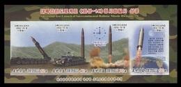 North Korea 2017 Mih. 6402B/05B (Bl.949B) Intercontinental Ballistic Missile Hwasong-14 (imperf) MNH ** - Korea, North