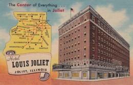 Illinois Joliet Hotel Louis Joliet 1952 Curteich - Joliet