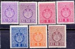 JUGOSLAVIA - YUGOSLAVIA - PORTO DIFFERENT. COLOR - MNH ** - 1932 - Segnatasse