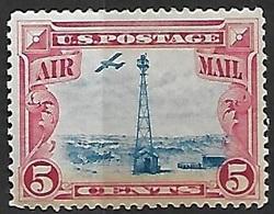 US  1928  Sc#C11  5c Airmail  MLH  2016 Scott Value $5 - Air Mail