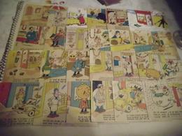 LOT DE 24 CARTES ILLUSTRATIONS.....THEMES MAGASINS...SIGNE TIENNO ...(cartes Avec Une Agrafes Ou Trace) - Cartes Postales