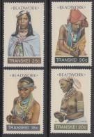 D90819 Transkei South Africa 1987 NUDES Xhosa BEADWORK Set MNH - Afrique Du Sud Afrika RSA Sudafrika - Transkei