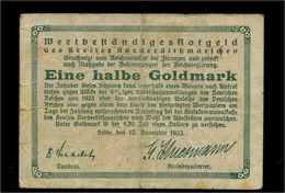 1/2Goldmark 1923 Aushilfsschein Siehe Beschreibung (103952) - Deutschland