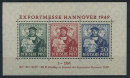 BIZONE 1949, Block 1 Postfrisch (96974) - Bizone