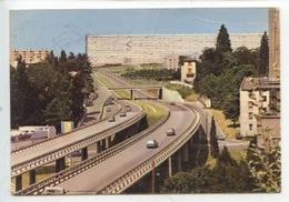 Saint Etienne : Le Rond-point Et L'autoroute à La Sortie Du Tunnel La Rivière - Saint Etienne