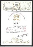 Etiquette De Vin 1945 MOUTON ROTHSCHILD L'Année De La Victoire Gouache De Philippe JULLIAN - Illustrators & Photographers