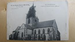 En Champagne. L'Eglise De SOMME-SUIPPES (Marne) - Guerre 1914-18