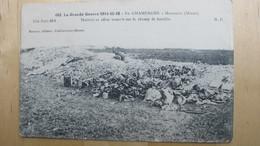 En Champagne. MASSIGES (Marne). Matériel Et Effets Trouvés Sur Le Champ De Bataille. - Guerre 1914-18