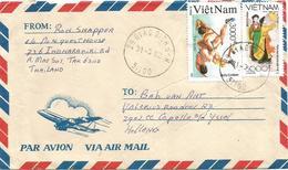 Vietnam 1991 Giao Dich Wrestling Traditional Dress Custome Danse Cover - Vietnam