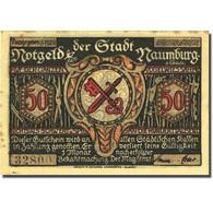 Billet, Allemagne, Naumburg, 50 Pfennig, Personnage 1, 1920, SUP, Mehl:928.2a - Germania