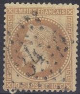 Etoile 34 Sur Lauré N°28. - 1863-1870 Napoléon III Lauré