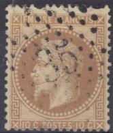 Etoile 35 Sur Lauré N°28. - 1863-1870 Napoléon III Lauré